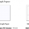 Free Online Graph/Grid Paper PDFs