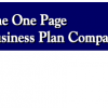 Free One-Page Business Plan Templates